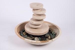 fontaine en pierre colimaçon